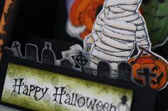 Carte scrapbooking Halloween 2017