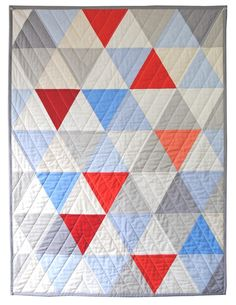 Equilateral Triangles Quilt - freaking brilliant pattern that I MUST try.