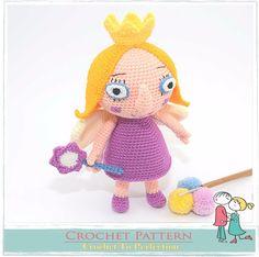 Princess Holly CROCHET PATTERN on CD Holly Amigurumi Doll Pattern Ben & Holly