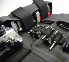 RollPro III – GoPro Organizer Carrying Case / The RollPro III was created from the simple need to organize and carry the mass of accessories that come with the GoPro cameras. http://thegadgetflow.com/portfolio/rollpro-iii-gopro-organizer-carrying-case-79/