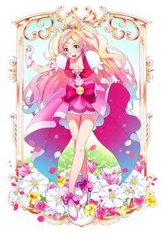 「夢へGO!GO!」/「れつな」のイラスト [pixiv] #プリキュア #GO!プリンセスプリキュア #キュアフローラ