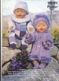 Billede: Crochet Doll Dress, Knitted Dolls, Doll Patterns, Knitting Patterns, Crochet Patterns, Knitting Dolls Clothes, Doll Clothes, Child Doll, Baby Dolls