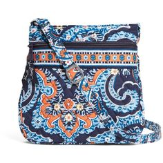 Vera Bradley Petite Double Zip Hipster Crossbody in Marrakesh (3,105 INR) ❤ liked on Polyvore