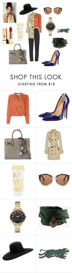 """Untitled #341"" by gloriatovizi on Polyvore featuring Maticevski, Diane Von Furstenberg, Christian Louboutin, Yves Saint Laurent, Burberry, ban.do, Marni, Marc Jacobs, Maison Michel and Gucci"