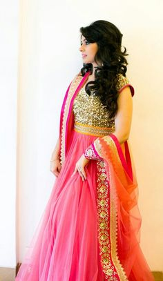 Bollywood Special - Bollywood Replica - Party Wear Pink Anarkali Suit - 1111 - PRODUCT Details : Style : Semi-Stitched Bollywood Style Party Wear Anarkali S Mode Bollywood, Bollywood Fashion, Bollywood Style, Indian Attire, Indian Wear, Indian Dresses, Indian Outfits, Cheongsam, Hanfu