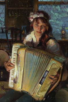 """Oil Painters of America 'Of an Evening"""" - Daniel Gerhartz, Alphonse Mucha, Norman Rockwell, Famous Artists, Great Artists, In This World, Oil Painters, Figure Painting, Woman Painting, Portrait Art"""