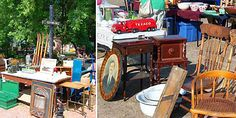 Aberfoyle  the oldest Flea Market in Ontario  This town is 'home' for me.