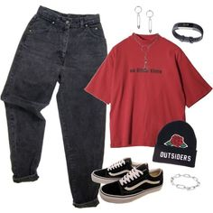 Cute Comfy Outfits, Edgy Outfits, Teen Fashion Outfits, Swag Outfits, Retro Outfits, Vintage Outfits, Polyvore Outfits Casual, Scene Outfits, Emo Fashion