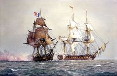 The Capture of Immortalite (Derek Gardner) Sailboat Art, Nautical Art, Old Sailing Ships, Ship Paintings, Man Of War, Wooden Ship, Historical Art, Ship Art, Model Ships