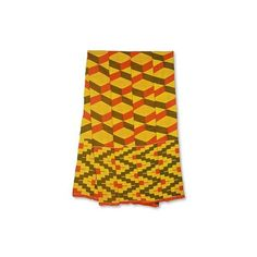 NOVICA One Strip Handwoven Yellow and Red African Kente Scarf ($135) ❤ liked on Polyvore featuring accessories, scarves, clothing & accessories, shawls, yellow, red shawl, gold scarves, colorful scarves, colorful shawl and multi colored scarves