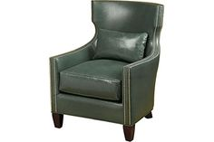 Wesley Hall Furniture - L7093 CHAIR- Black Leather or Purple Velvet Leather: Dynasty Graphite (Preferrable) or Giles Charcoal