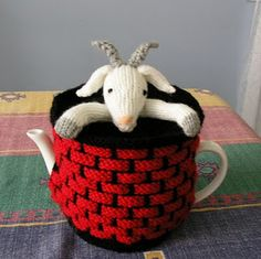 Justjen's Fester the Goat in the Well Tea Cosy