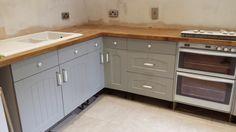 Farrow and Ball Lamp Room Gray (Grey) Kitchen Cabinets - Itty Bitty Bristol