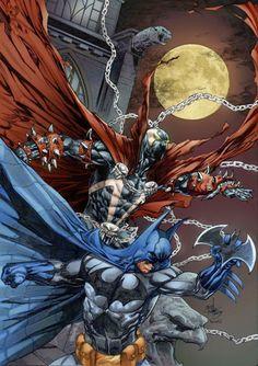 Spawn & Batman by Rahmat M. Handoko