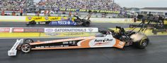 2013 Top Fuel Final at the Gatornationals.  Antron Brown would go on to defeat Clay Millican denying Clay his first NHRA Top Fuel Win