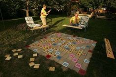 #scrabble....an idea for the backyard where the grass refuses to grow