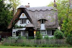 Cambridgeshire UK  Thatched roof cottage