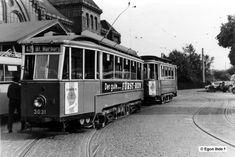 1955 die gute alte Hamburger Strassenbahn am Bahnhof Harburg