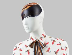 FUSION Collection by More Mannequins #FemaleMannequins #mask #birdpattern #bangs #art #collar