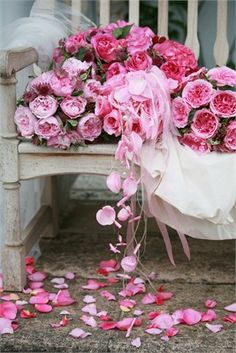 Cascading David Austin bouquets. Order David Austin and other scented & Garden Roses @ www.parfumflowercompany.com