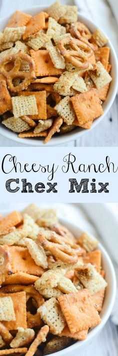 Cheesy Ranch Chex Mix!                                                                                                                                                                                 More