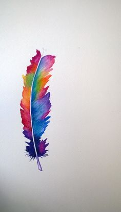 watercolour feathers - Google Search