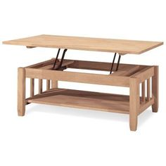 International Concepts Mission Solid Wood Lift Top Coffee Table - BJ6TCL