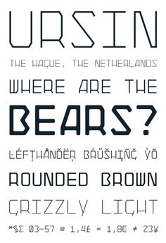 Ursin typeface by Adam Katyi, via Behance