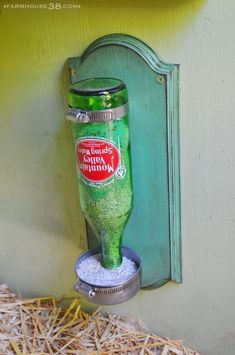 Grit Dispenser from Farmhouse38 #chickencooptips #ChickenCoops