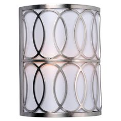 World Imports Venn 2-Light Brushed Nickel Wall Sconce-WI907837 - The Home Depot for basement staircase