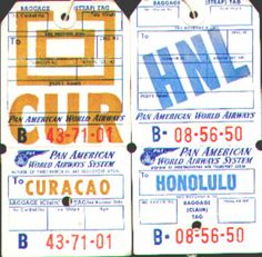 Travel Tags, Air Travel, Vintage Travel, Vintage Airline, Ticket Design, Pan Am, Spring Breakers, Good Old Times, Lock Up