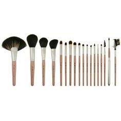 Blush Professional 18 Piece Makeup Brush Set by Blush Professional. $47.48. Professional 18 Piece makeup Brush Set with Leather Style Carry Case. This set consists of brushes made from Top Quality Goat and Pony Hair, which are Super Soft and very thick.  Contains:  Fan Brush. Round Power Brush.  Blusher Brush.   Angle Blusher Brush.   Easy Crease Eye Shadow Brush.   All Over Eye Shadow Brush - Large.   All Over Eye Shadow Brush - Small.   Concealer Brush.   Eye Shadow Br...