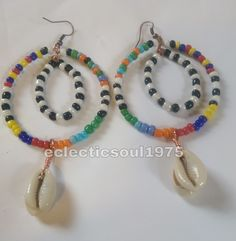 Double hoops inspired by the Maasai. I love the colors they use. I could never come close to their jewelry, I can only be inspired. #handmade #maassai #maasaiinspired #handmadeearrings #afroncentric | Shop this product here: spreesy.com/eclecticsoul1975/3 | Shop all of our products at http://spreesy.com/eclecticsoul1975    | Pinterest selling powered by Spreesy.com
