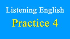 English Listening Practice Level 4 - Learn English By Listening Engilsh ...