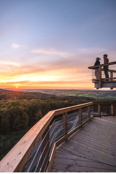 Hoch hinaus: Der Baumwipfelpfad Panarbora bietet eine atemberaubende Aussicht über das Bergische Land. © Tourismus NRW e.V./Dominik Ketz