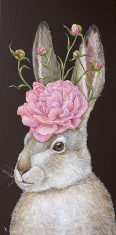 Vicki Sawyer - Available Originals Bunny Art, Cute Bunny, Lapin Art, Rabbit Pictures, Bunny Painting, Rabbit Art, Edvard Munch, Pics Art, Whimsical Art
