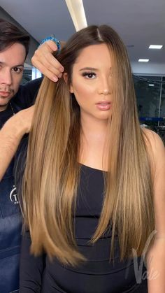 Hair To Go, New Hair, Curls Overnight, Cabelo Ombre Hair, Hair Straightener And Curler, Ag Hair Products, Halo Hair Extensions, Hair Highlights, Cut And Color