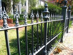 New Orleans iron fence