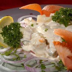 Egy finom Majonézes krumplisaláta gazdagon ebédre vagy vacsorára? Majonézes krumplisaláta gazdagon Receptek a Mindmegette.hu Recept gyűjteményében!