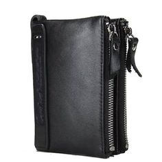 HOT!!! Genuine Cowhide Leather Men Wallet Short Coin Purse Small Vintage Wallet Brand High Quality