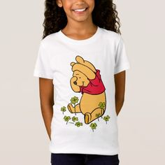 Shop Pooh Playing in a Shamrock Patch T-Shirt created by winniethepooh. Personalize it with photos & text or purchase as is! Branded T Shirts, St Patricks Day, Winnie The Pooh, Fitness Models, Patches, T Shirts For Women, Casual, Sleeves, Fabric