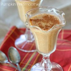 Super yummy and the boys love this great Fall Breakfast! Simple Pumpkin Pie Smoothie Recipe