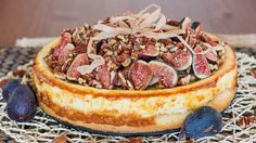 Goat Cheesecake with Figs, Pecans and Honey