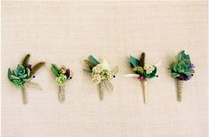 succulent boutiners for groomsmen