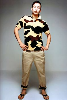 Bathing Ape 2012 Summer Collection...Bape returns with what they do best....Camo. I'd rock these pants - not with those sandals though :-/