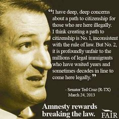 Most rational think from the mouth of Cruz
