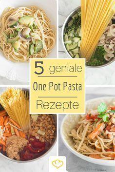 One-Pot-Pasta: So schnell und einfach hast du noch nie ein frisches Nudelgericht gezaubert – versprochen! Das Prinzip hinter dieser genialen Idee ist dabei ganz simpel. Alle Zutaten werden direkt in einen Topf gegeben und dann gekocht. Am Ende musst du deine Pasta-Kreation nur noch abschmecken.