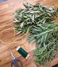 Great Make A Herb And Olive Leaf Table Garland