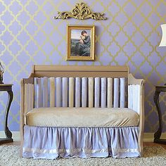 The lovely lavender and latte hues of the wonder bumpers, crib guards and crib bedding from Go Mama Go Designs make for a sweet addition to any nursery. Go Mama Go Designs products offer superb crib safety solutions.