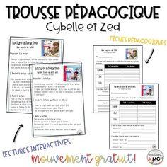 Trousse pédagogique - Cybelle et Zed by Trouvailles de madame MC Mc2, Lectures, Album, Teacher Newsletter, Madame, Teaching, Education, Learning, Studying
